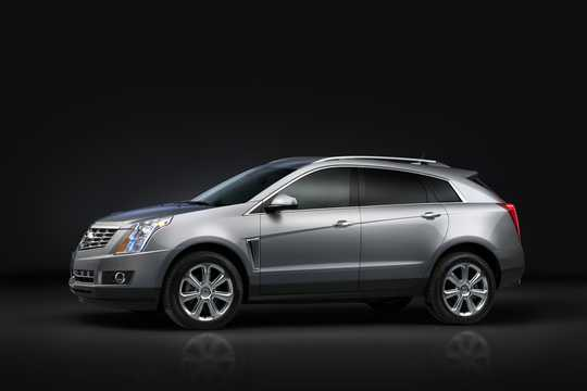 Front/Side  of Cadillac SRX 3.6 V6 AWD Hydra-Matic, 313hp, 2014