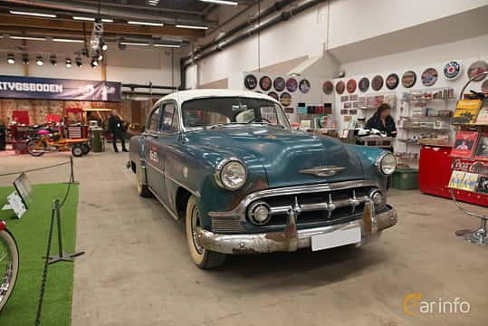 Front/Side  of Chevrolet 210 4-door Sedan 3.9 Manual, 110ps, 1953 at Bilsport Performance & Custom Motor Show 2018