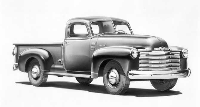 Front/Side  of Chevrolet Advance Design 3100 3.5 Manual, 90hp, 1948