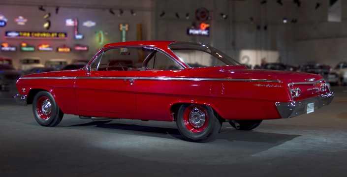 Bak/Sida av Chevrolet Bel Air Sport Coupé 6.7 V8 Manuell, 415hk, 1962