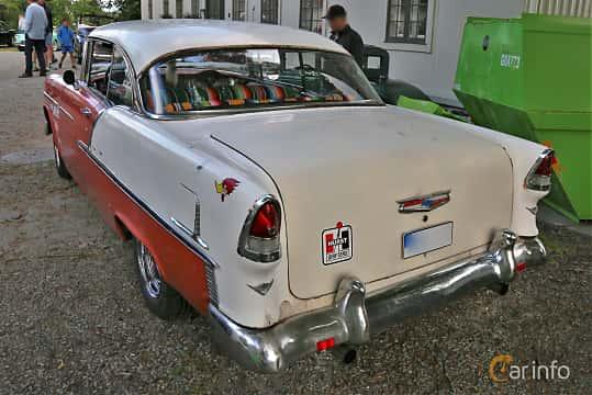 Back/Side of Chevrolet Bel Air Sport Coupé 4.3 V8 Powerglide, 183ps, 1955 at Rådaträffen, Mölnlycke 2019 Tisdag vecka 29