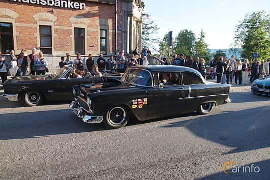Front/Side  of Chevrolet Bel Air 2-door Sedan 4.3 V8 Powerglide, 183ps, 1955 at Umeå Wheels Nations Norr 2019