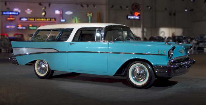 Front/Side  of Chevrolet Bel Air Nomad 1957