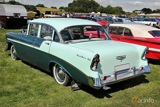 Back/Side of Chevrolet Bel Air 4-door Sedan 3.9 Powerglide, 142ps, 1956 at Falköping Nasco Yankee Meet 2016