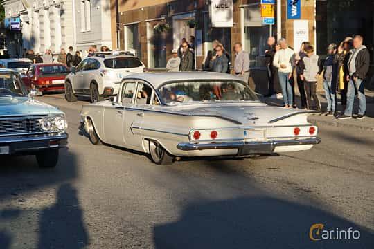 Back/Side of Chevrolet Bel Air 4-door Sedan 3.9 Powerglide, 137ps, 1960 at Umeå Wheels Nations Norr 2019
