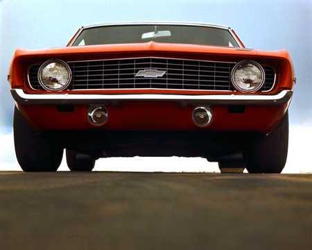 Front  of Chevrolet Camaro 1969