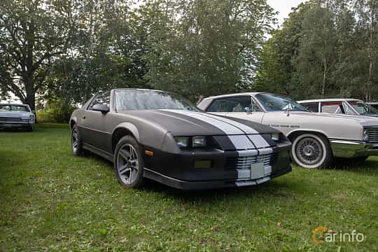 Front/Side  of Chevrolet Camaro 5.0 V8 Automatic, 147ps, 1982 at Billesholms Veteranbilsträff 2019 augusti