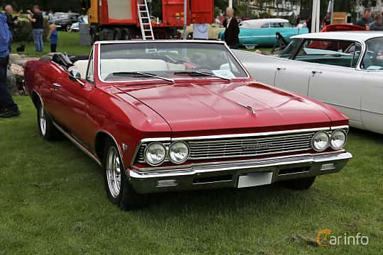 Front/Side  of Chevrolet Chevelle Malibu Convertible 4.6 V8 Powerglide, 198ps, 1966