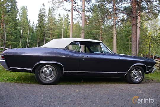 Side  of Chevrolet Chevelle Malibu Convertible 5.4 V8 Hydra-Matic, 330ps, 1968 at Onsdagsträffar på Gammlia Umeå 2019 vecka 35