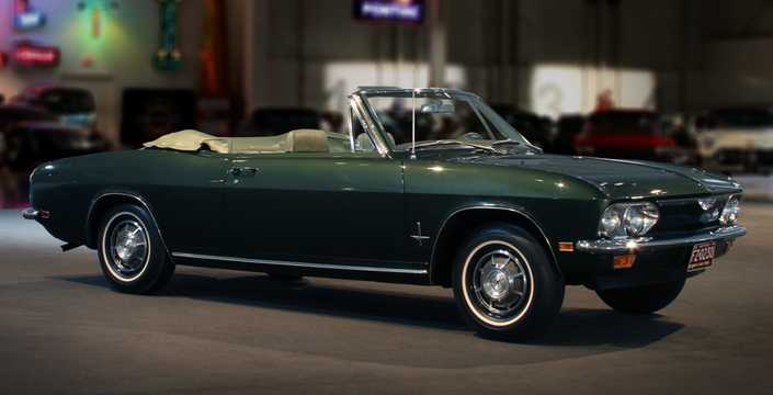 Front/Side  of Chevrolet Corvair Convertible 2.7 Manual, 97hp, 1969