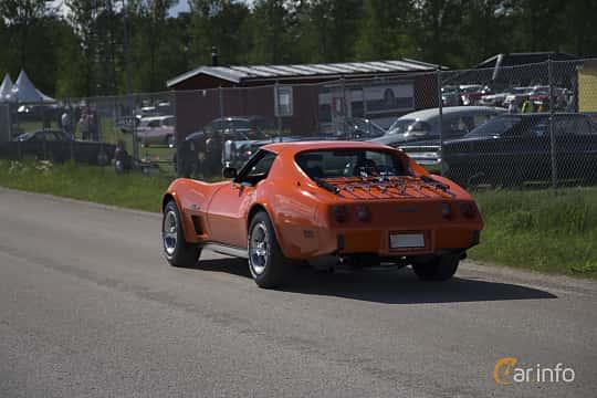 Back/Side of Chevrolet Corvette Stingray 5.7 V8 Automatic, 213ps, 1976 at Nostalgifestivalen i Vårgårda 2017