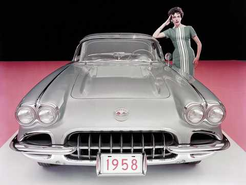 Front  of Chevrolet Corvette 1958