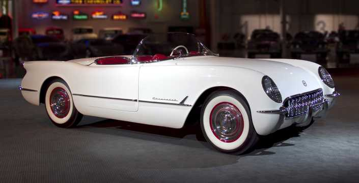 Front/Side  of Chevrolet Corvette 3.9 Powerglide, 152hp, 1953