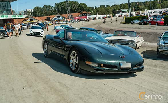 Front/Side  of Chevrolet Corvette Convertible 5.7 V8 Automatic, 350ps, 2000 at Stockholm Vintage & Sports Car meet 2019