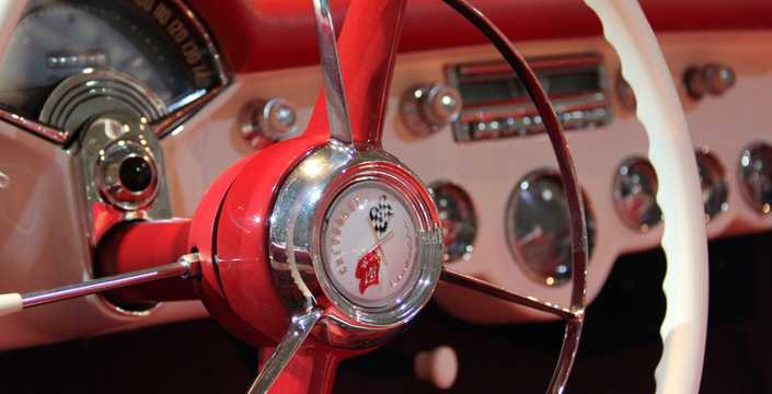Interior of Chevrolet Corvette 3.9 Powerglide, 152hp, 1953