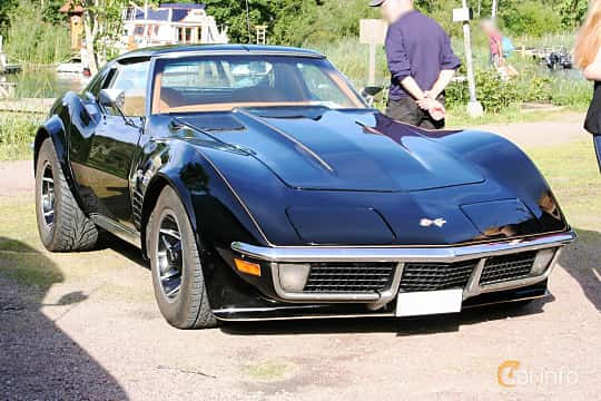 Front/Side  of Chevrolet Corvette Stingray 5.7 V8 Automatic, 273ps, 1971 at KungälvsCruisingen 2015
