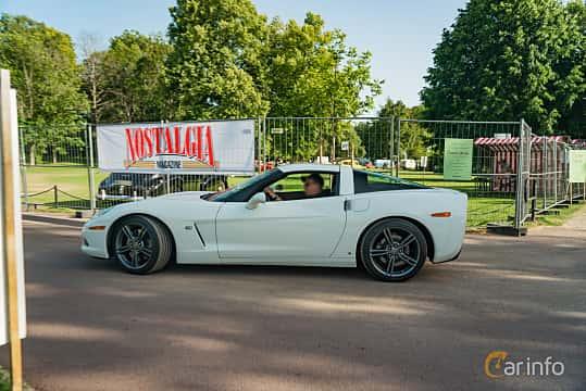 Side  of Chevrolet Corvette 6.2 V8 Automatic, 437ps, 2008 at Ronneby Nostalgia Festival 2019