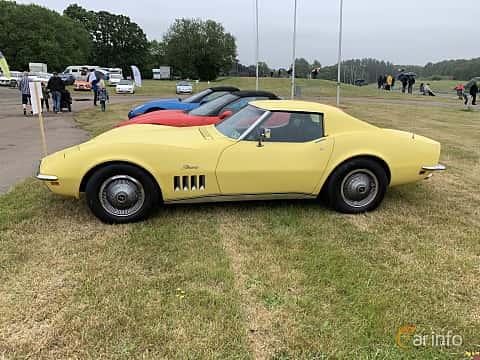 Side  of Chevrolet Corvette Stingray 5.7 V8 Automatic, 305ps, 1969 at Svenskt sportvagnsmeeting 2019
