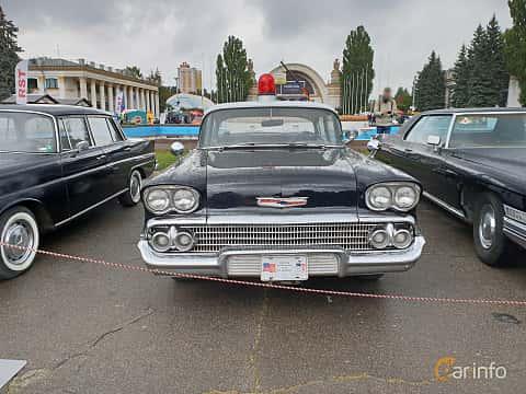 Front  of Chevrolet Delray 4-door 1958 at Old Car Land no.2 2018