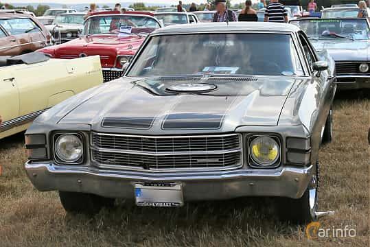 Front/Side  of Chevrolet El Camino Custom SS 7.4 V8 Hydra-Matic, 370ps, 1971 at Falköping Nasco Yankee Meet 2018