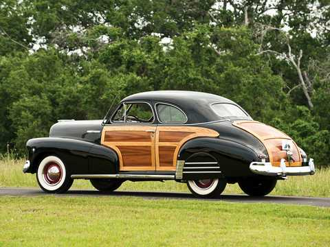 Back/Side of Chevrolet Fleetmaster Coupé 3.5 Manual, 91hp, 1947