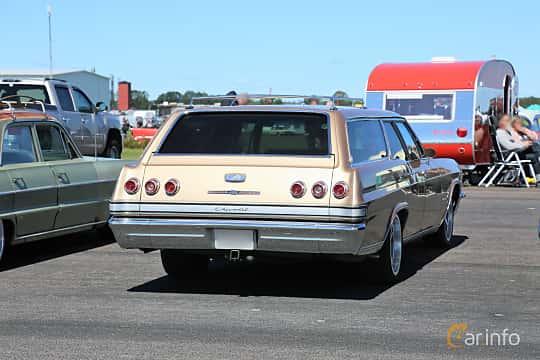 Back/Side of Chevrolet Impala 2-seat Station Wagon 6.5 V8 329ps, 1965 at Lidköping Power Big Meet  2019