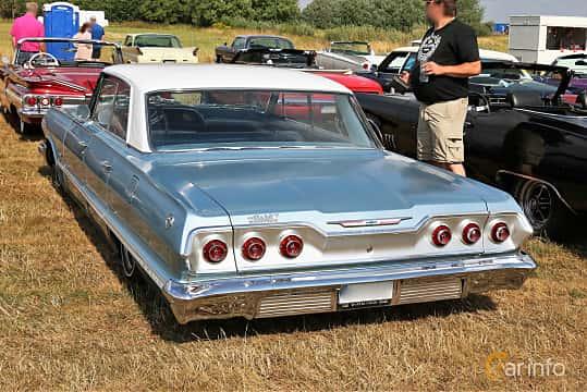 Back/Side of Chevrolet Impala Sport Sedan 4.6 V8 Powerglide, 198ps, 1963 at Falköping Nasco Yankee Meet 2018