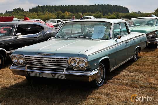 Front/Side  of Chevrolet Impala Sport Sedan 5.4 V8 Powerglide, 253ps, 1962 at Falköping Nasco Yankee Meet 2018