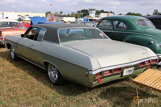 Back/Side of Chevrolet Impala Custom Coupé 5.7 V8 Powerglide, 305ps, 1969 at Falköping Nasco Yankee Meet 2018