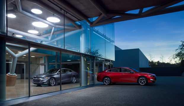 Front/Side  of Chevrolet Malibu 2019