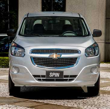 Front  of Chevrolet Spin 1.8 Flex Fuel Automatic, 106hp, 2016