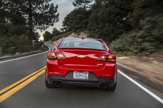 Back of Chevrolet SS 6.2 V8 Automatic, 421hp, 2016