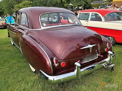 Back/Side of Chevrolet Styleline Deluxe 4-door Sedan 3.5 Manual, 93ps, 1950 at Bil & MC-träffar i Huskvarna Folkets Park 2019 vecka 32 tema Hot Rods