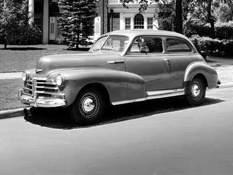 Front/Side  of Chevrolet Stylemaster Town Sedan 3.5 Manual, 91hp, 1948