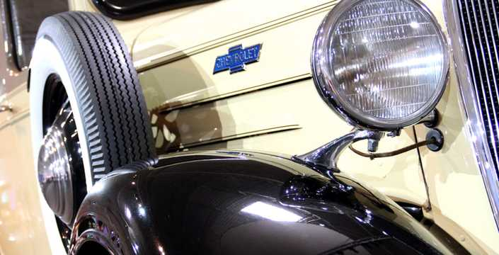 Close-up of Chevrolet Model FB Suburban Carryall 3.4 Manual, 80hp, 1936