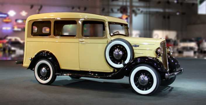 Front/Side  of Chevrolet Model FB Suburban Carryall 3.4 Manual, 80hp, 1936