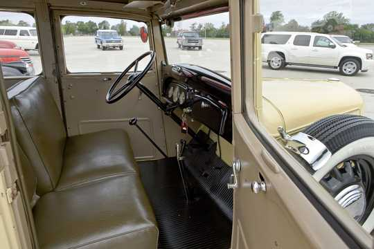 Interior of Chevrolet Model FB Suburban Carryall 3.4 Manual, 80hp, 1936
