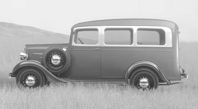 Side  of Chevrolet Suburban Carryall 3.4 Manual, 79hp, 1936