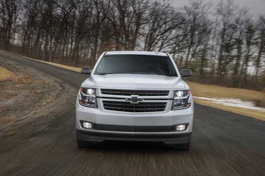 Front  of Chevrolet Tahoe RST 6.2 V8 Automatic, 426hp, 2018