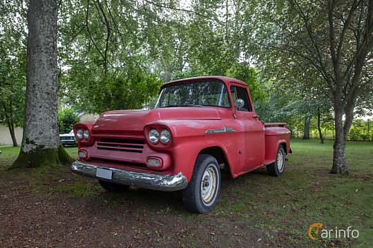 Front/Side  of Chevrolet Apache 31/32 4.6 V8 Manual, 162ps, 1958 at Billesholms Veteranbilsträff 2019 augusti