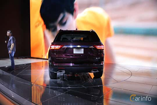 Back of Chevrolet Traverse 2017 at North American International Auto Show 2017