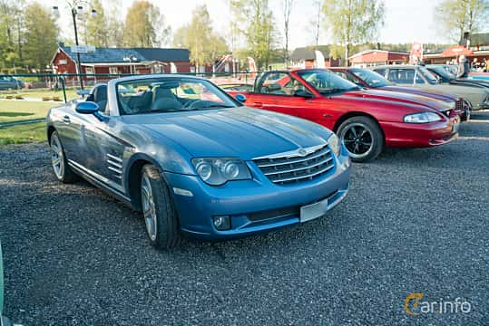 Front/Side  of Chrysler Crossfire Roadster 3.2 V6 Automatic, 218ps, 2005 at Lissma Classic Car 2019 vecka 20