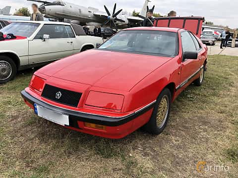 Front/Side  of Chrysler LeBaron GTC Coupé 2.2 Manual, 177ps, 1989 at Old Car Land no.2 2019