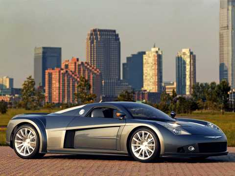 Front/Side  of Chrysler ME Four-Twelve 6.0 V12 Semi-Automatic, 862hp, 2004