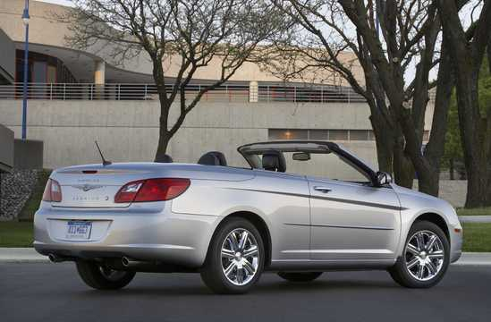Back/Side of Chrysler Sebring Convertible 2010