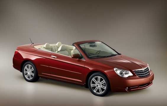 Front/Side  of Chrysler Sebring Convertible 2.4 World Automatic, 175hp, 2008