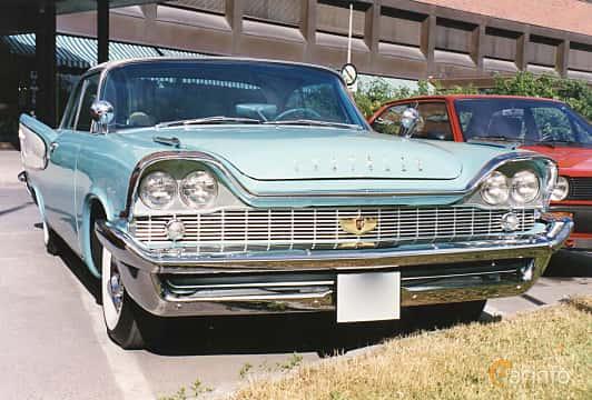 Front/Side of Chrysler Windsor 2-door Hardtop 5.8 V8 TorqueFlite, 294ps, 1958