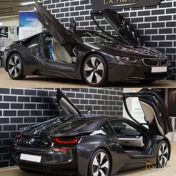 Close-up of BMW i8 1.5 + 7.1 kWh Steptronic, 362ps, 2017
