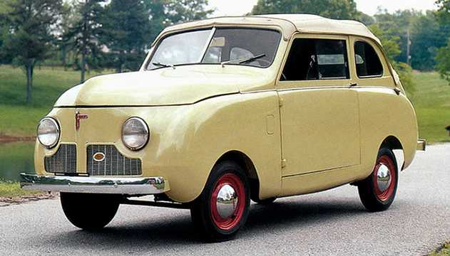Front/Side  of Crosley Series 4CC Convertible Sedan 0.7 Manual, 27hp, 1946
