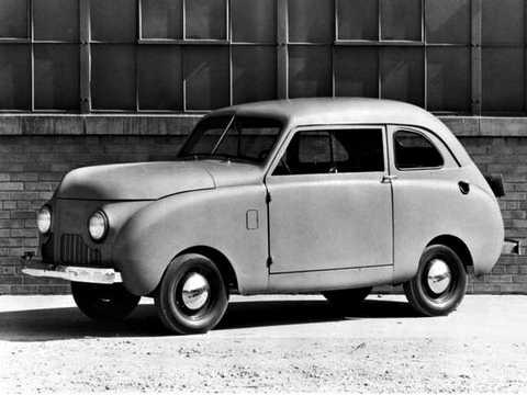 Front/Side  of Crosley Series 4CC Sedan 0.7 Manual, 27hp, 1946